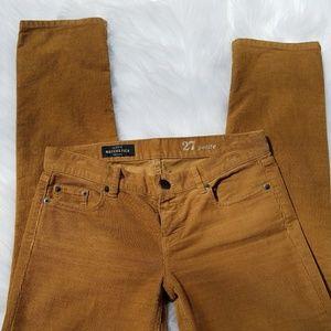 J. Crew Matchstick Corduroy Pants
